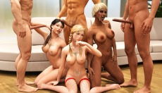 3D Girlz forever fuck game with orgy sex
